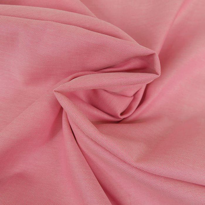 Tissu coton oxford - rose x 10 cm