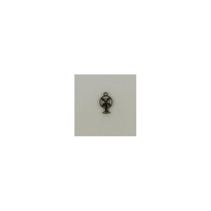 Breloque ventilateur 18mm bronze x1