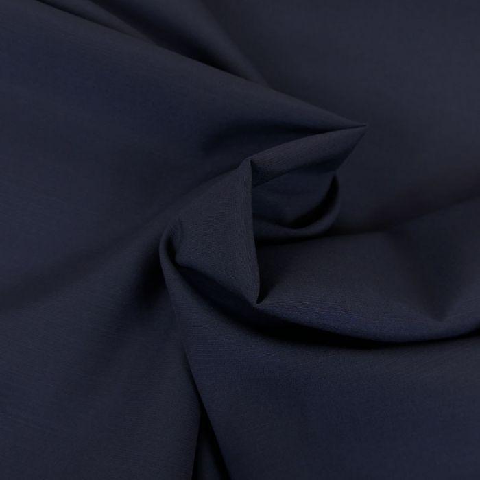 Tissu laine et soie - bleu marine x 10 cm