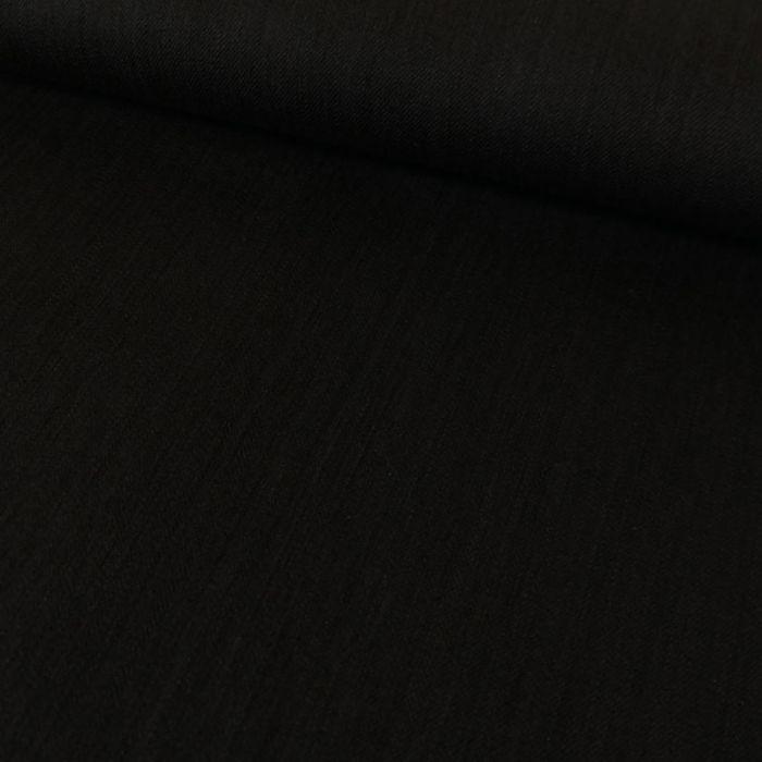 Tissu denim stretch - noir x 10 cm