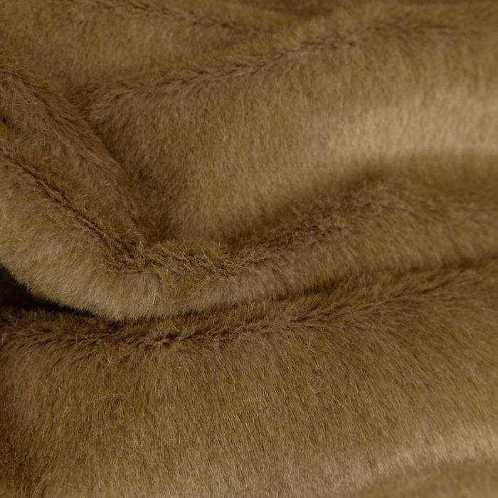 Tissu fausse fourrure - beige x 10 cm