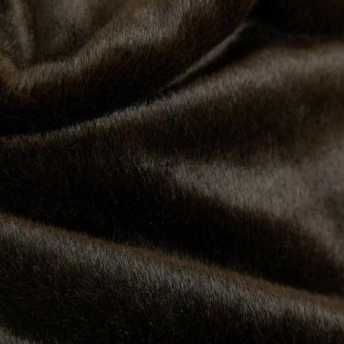 Tissu fausse fourrure - marron foncé x 10 cm