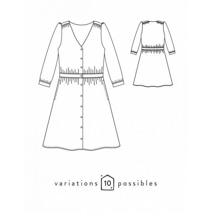 Kit robe Harmonie - Atelier Scammit (patron + tissus)