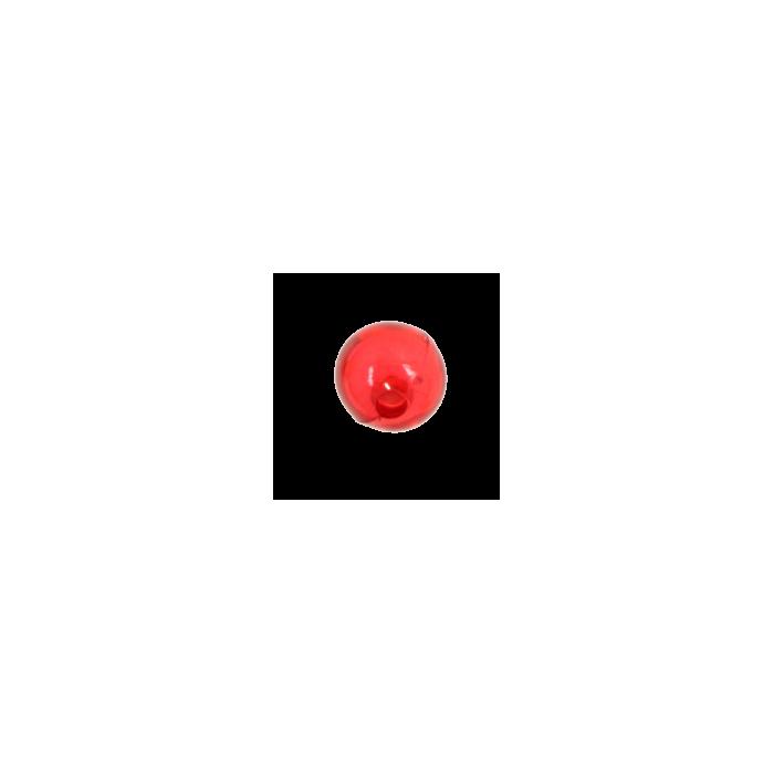 Perle en résine ronde 8mm rouge x10