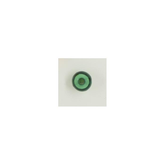 Perle en résine ronde 8mm vert émeraude x10