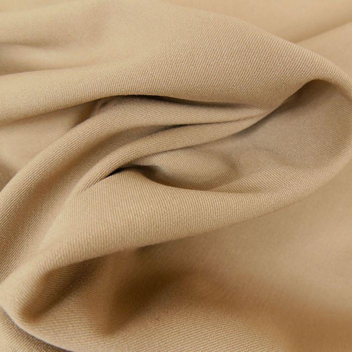 Tissu twill polyviscose stretch - sable x 10 cm