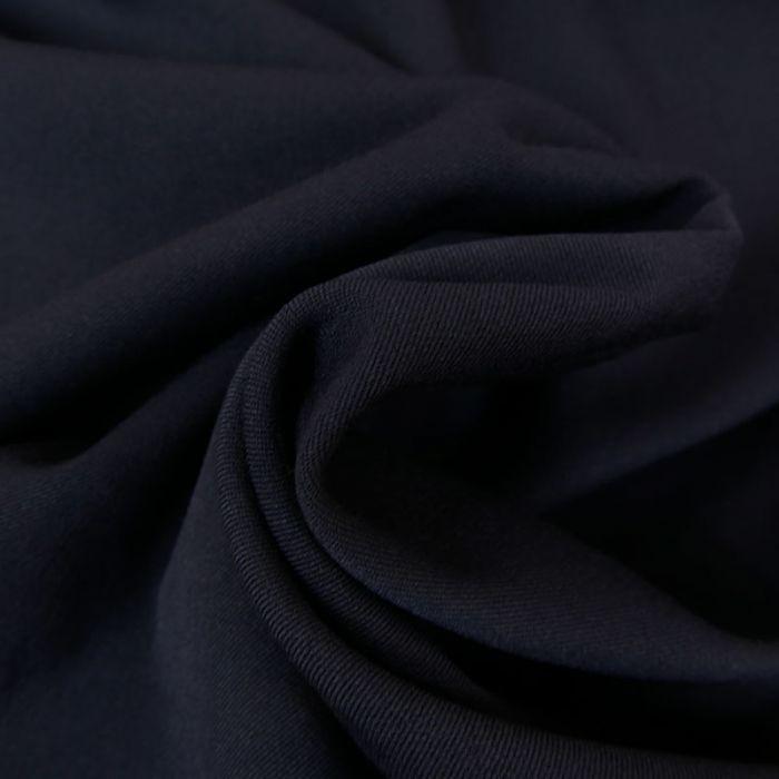 Tissu twill polyviscose stretch - marine foncé x 10 cm