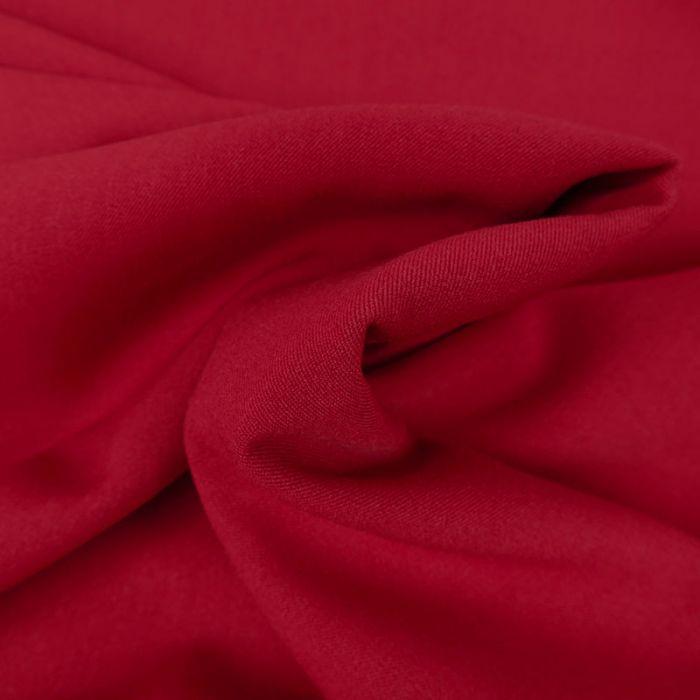 Tissu twill polyviscose stretch - rouge x 10 cm