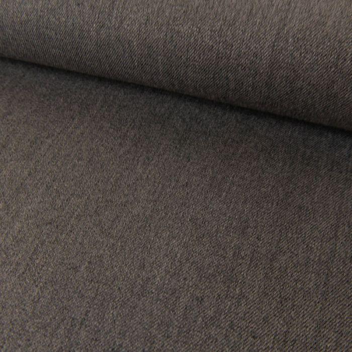Tissu twill polyviscose stretch - gris chiné x 10 cm