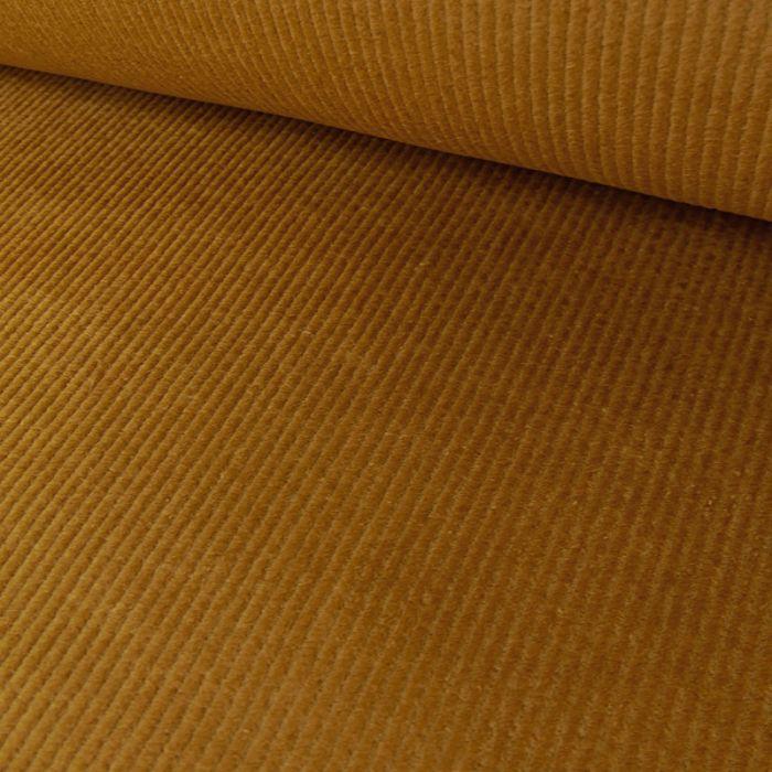 Tissu velours côtelé uni - camel x 10 cm