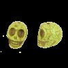 Perle tête de mort en résine 18mm vert pomme x1