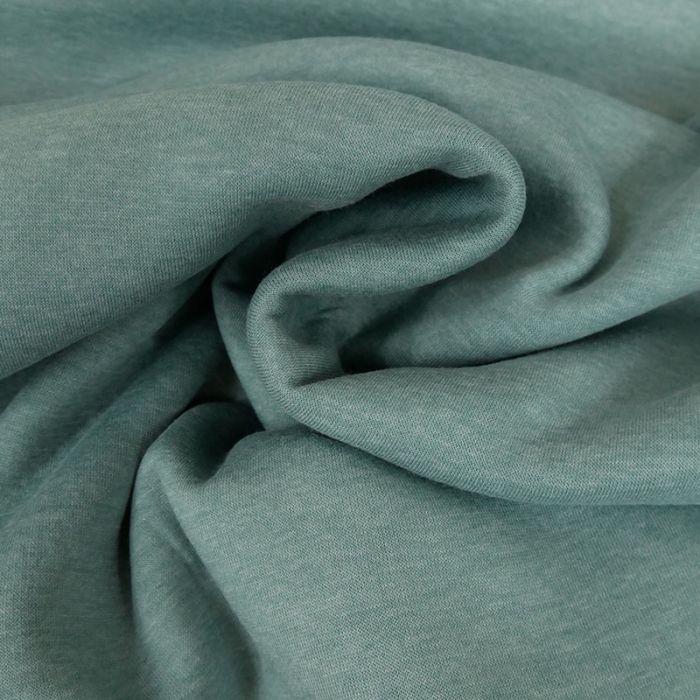 Coupon x 40 cm - Tissu molleton sweat turquoise