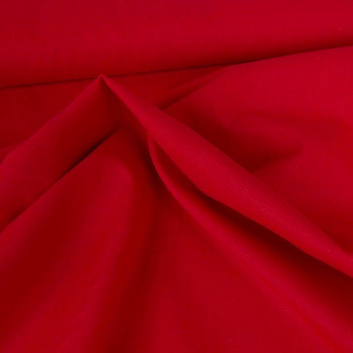 Tissu coton uni - rouge vif x 10 cm