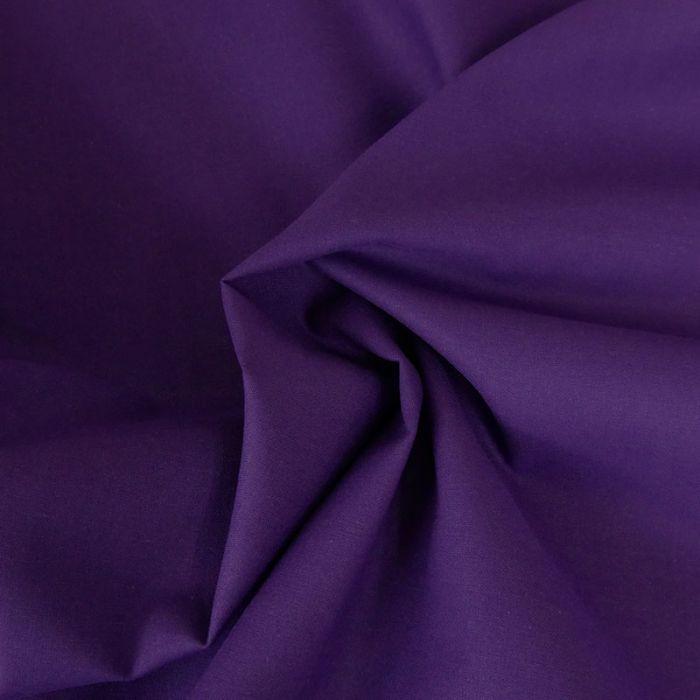 Tissu coton uni - violet x 10 cm