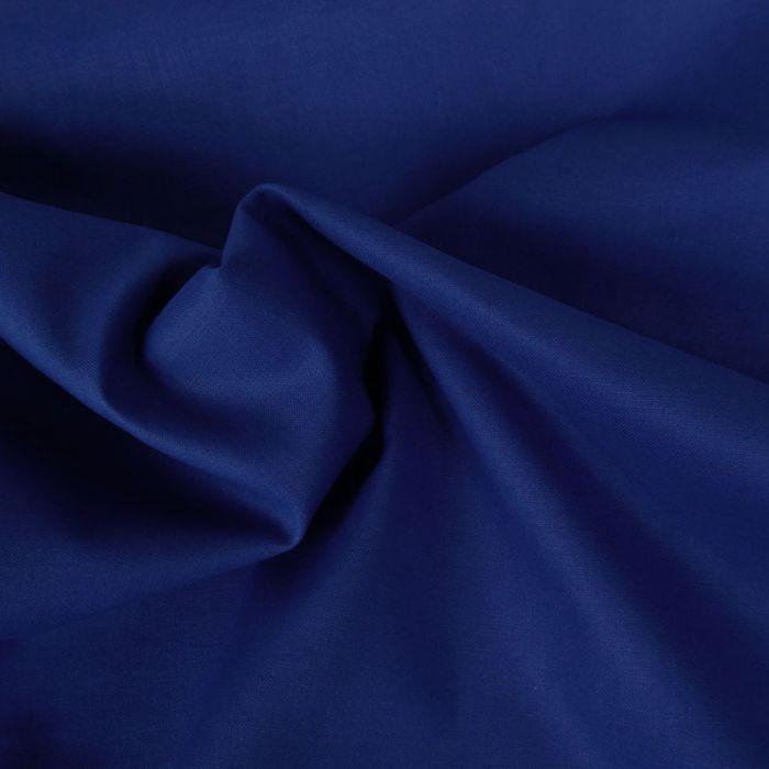 Tissu coton uni - bleu roi x 10 cm