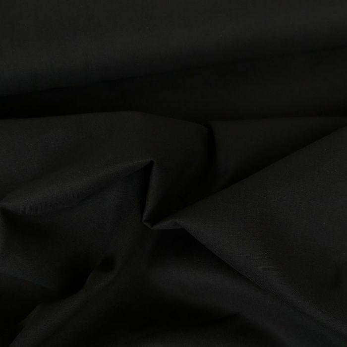 Tissu coton uni - noir x 10 cm