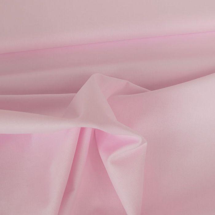Tissu coton uni - rose layette x 10 cm