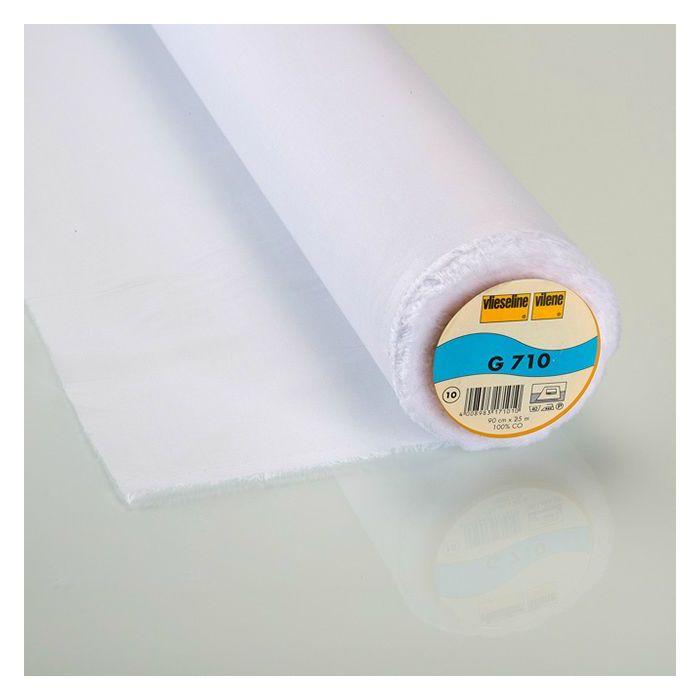 Entoilage thermocollant tissé léger Vlieseline G710 blanc x 10 cm