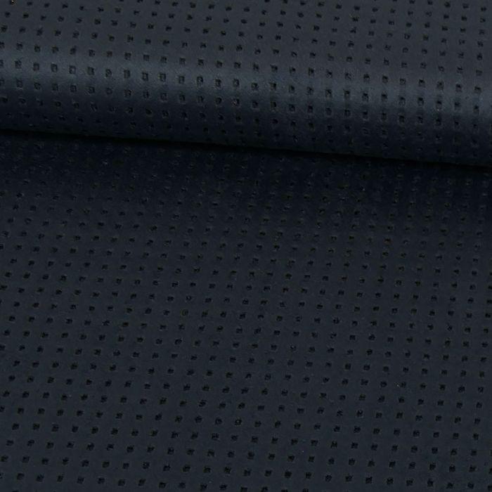 Tissu suédine ajourée - bleu x 10 cm