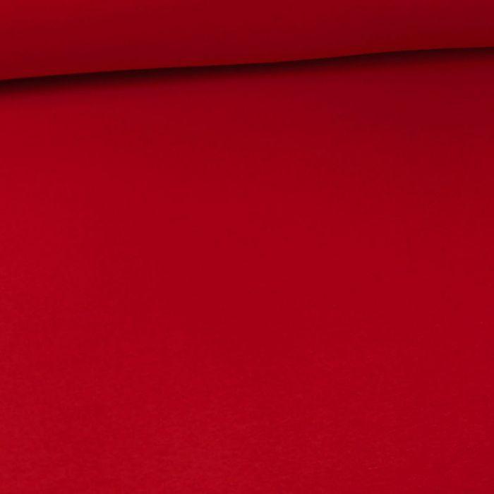 Tissu molleton sweat - rouge x 10 cm