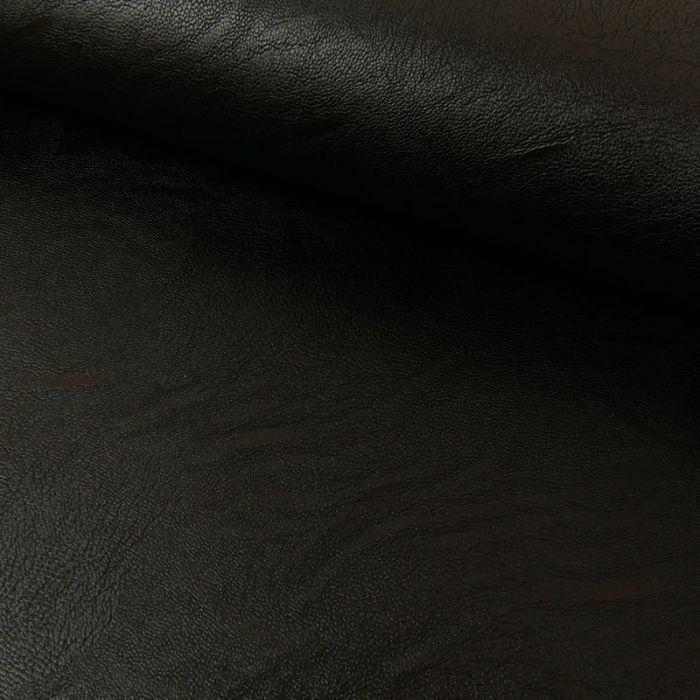 Tissu simili cuir souple - noir x 10 cm