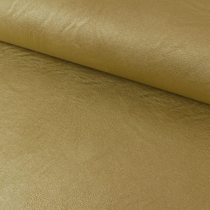 Tissu simili cuir souple - doré x 10 cm