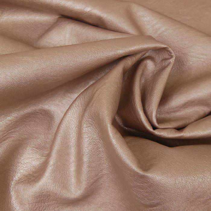 Tissu simili cuir souple - saumon x 10 cm