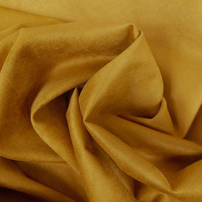 Tissu suédine fluide aspect daim - ocre x 10 cm