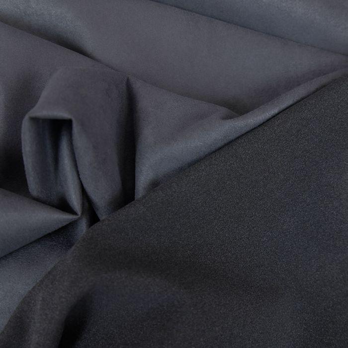 Tissu suédine fluide aspect daim - bleu x 10 cm