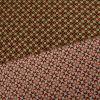 Tissu néoprène réversible fleurs -  vert x 10 cm