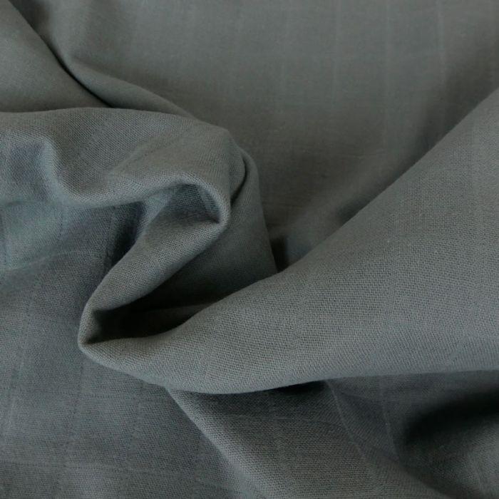 Coupon x 30 cm -Tissu lange de coton - gris foncé