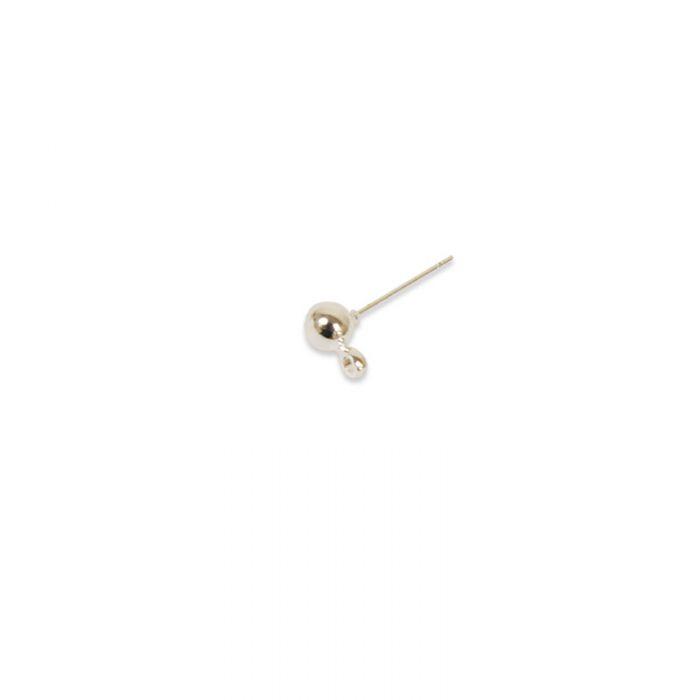 Boucles d'oreilles clous à tête ronde 4 mm x10