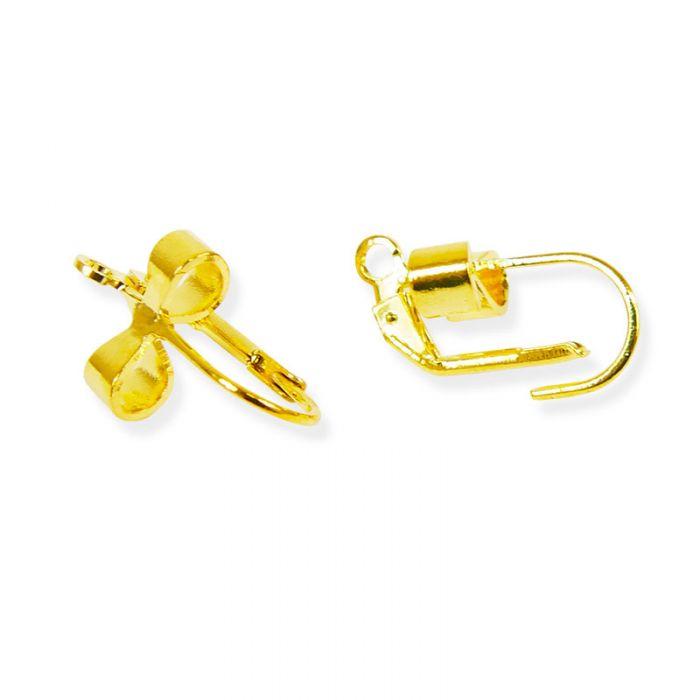 Boucles d'oreilles dormeuses 19 mm noeud stylisé x2