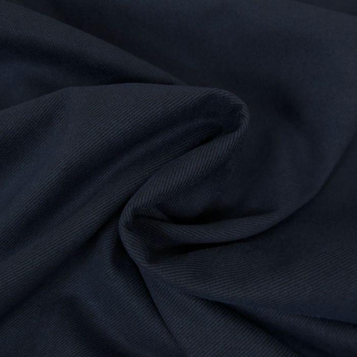 Coupon x 90 cm - Tissu suédine twill bleu marine