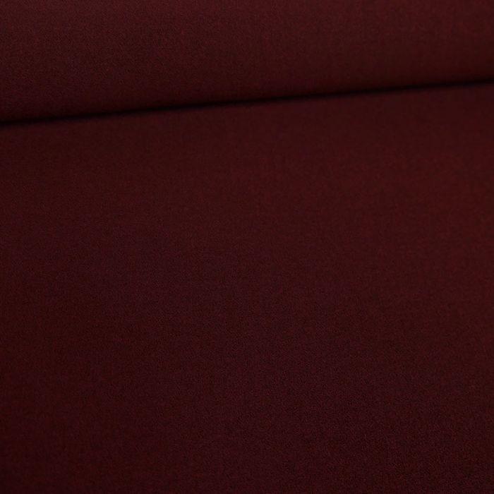 Coupon x 1,10 m - Tissu crêpe stretch bordeaux foncé