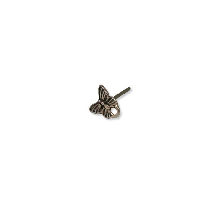 Boucles d'oreilles clous motif papillon  x4