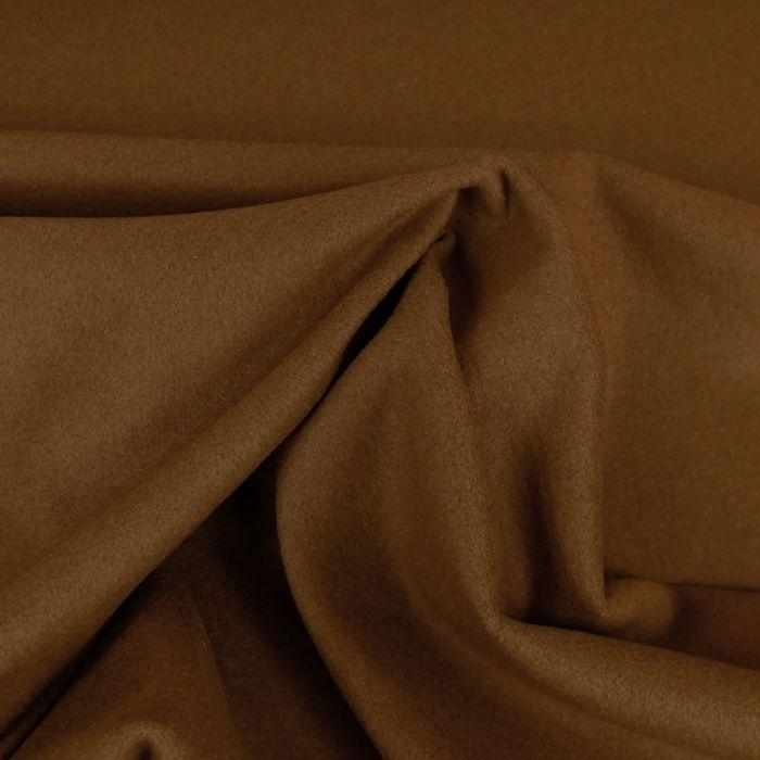 Tissu lainage cachemire doux - noisette x 10 cm