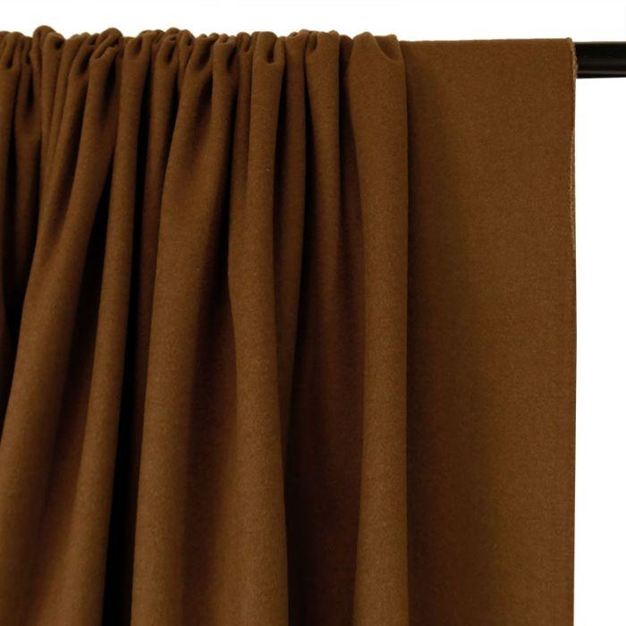 Coupon x 90 cm - Tissu lainage cachemire doux noisette