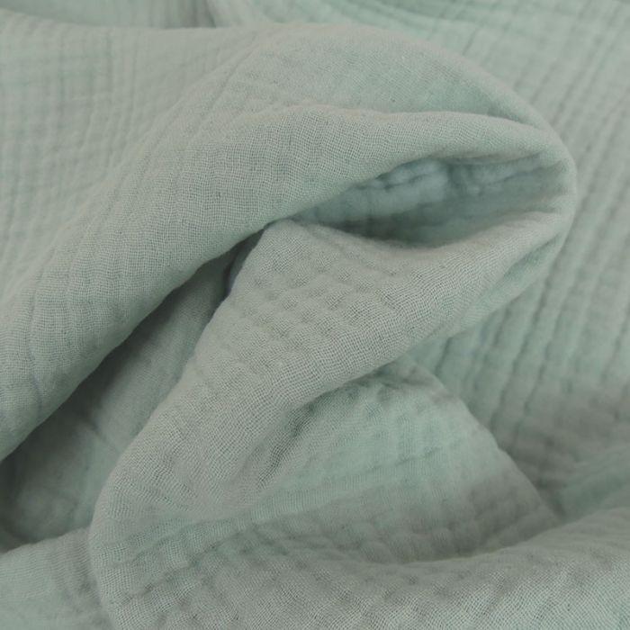 Tissu triple gaze - mint x 10 cm