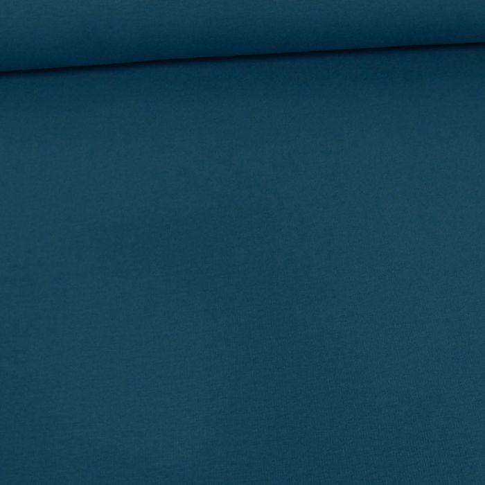 Tissu jersey bio uni - bleu cobalt x 10 cm