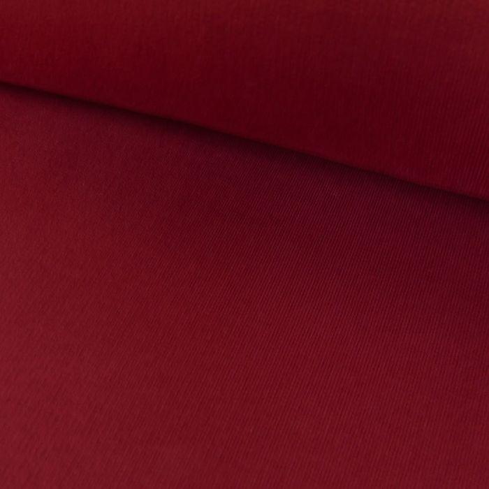 Tissu jersey sweat léger bio uni - bordeaux x 10 cm