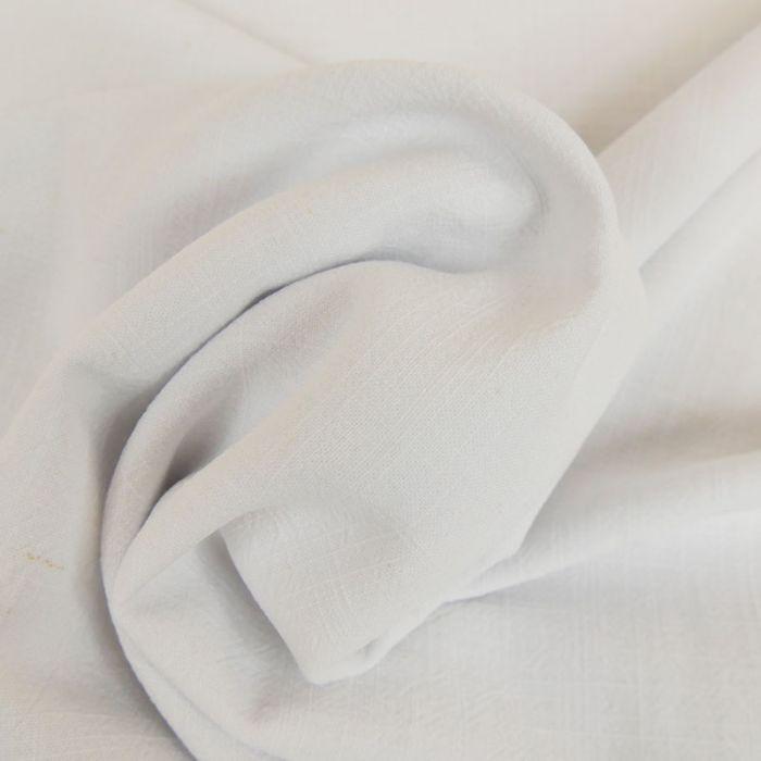 Tissu viscose lin - blanc x 10 cm