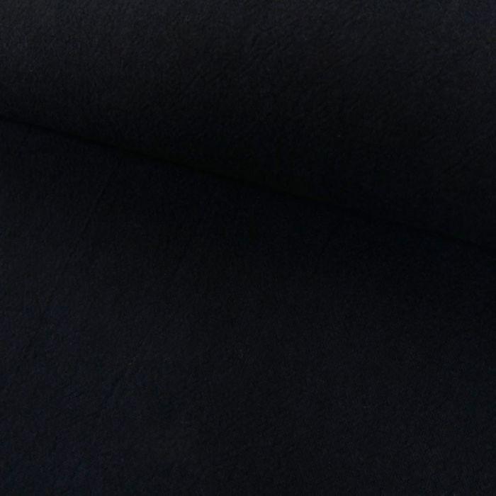 Tissu coton lavé uni - bleu marine x 10 cm