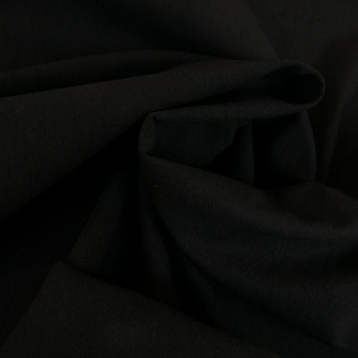 Tissu coton lavé uni - noir x 10 cm
