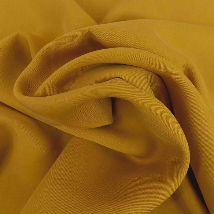 Tissu tencel - moutarde x 10 cm