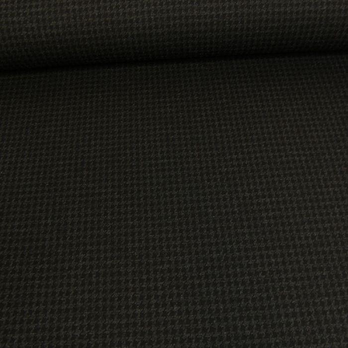 Tissu jersey punto pied de poule - noir x 10 cm
