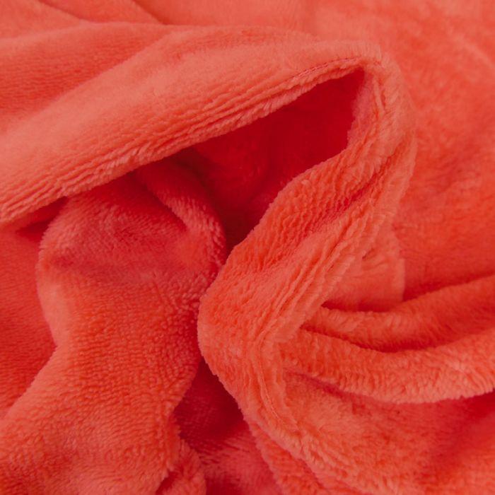 Tissu micro éponge bambou Oeko-Tex - corail x 10 cm