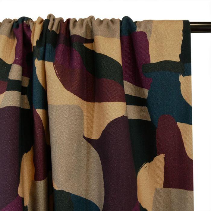 Tissu coton cachemire - multicolore x 10 cm
