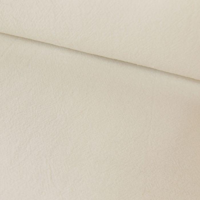 Tissu coton lavé uni - blanc x 10 cm