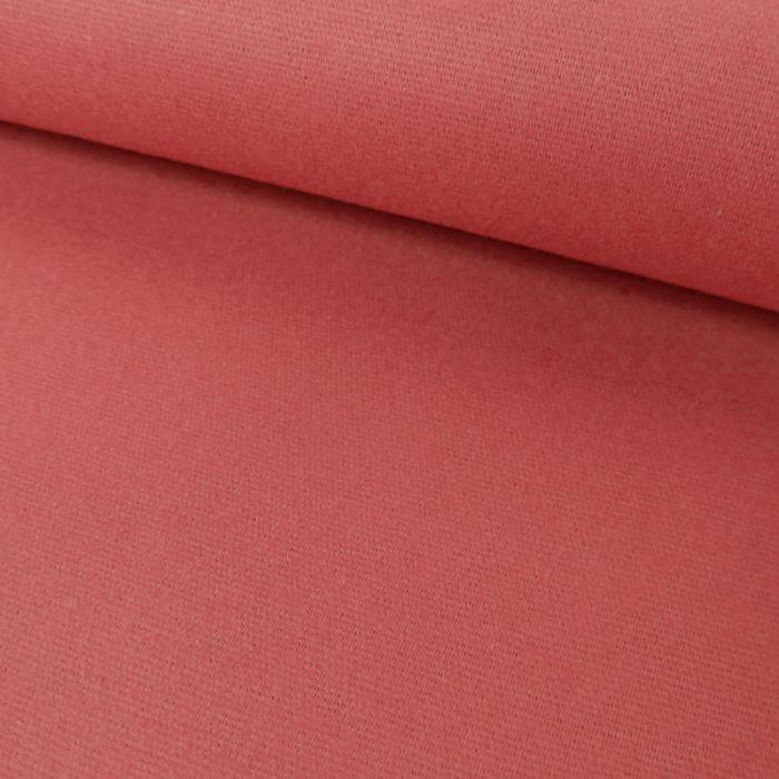 Tissu flanelle coton uni - rose x 10 cm